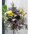 Ramo flores variadas en tonos amarillo y azules