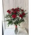 Ramo de 12 rosas de tallo largo