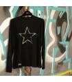Camiseta estrella plateada