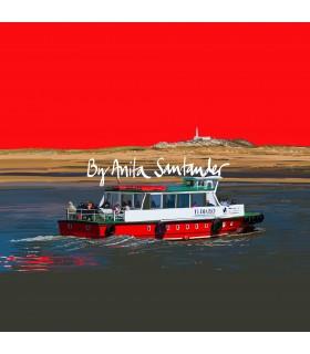 Lancha de los Reginas (pedreñera) Rojo